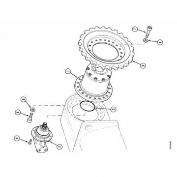 Case 87035450 Reman Hydraulic Final Drive Motor