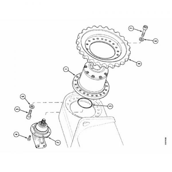 Case 151827A1 Hydraulic Final Drive Motor #2 image